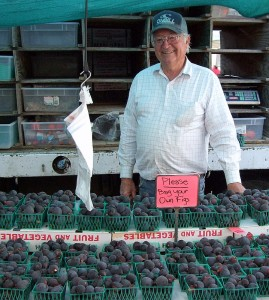 Allen Wilson with his figs